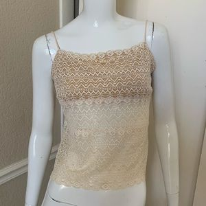 Cosabella Ivory Stretch Nylon Crop Lace Camisole